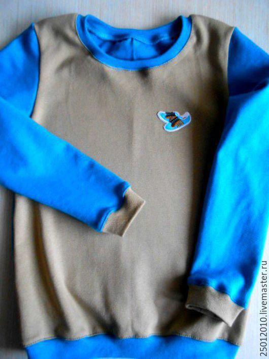 Одежда для мальчиков, ручной работы. Ярмарка Мастеров - ручная работа. Купить Толстовка детская.. Handmade. Тёмно-синий, на мальчика