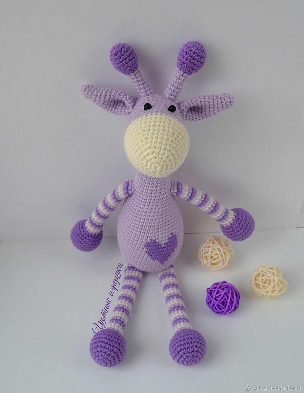 Фиолетовый жираф, Мягкие игрушки, Чистополь,  Фото №1