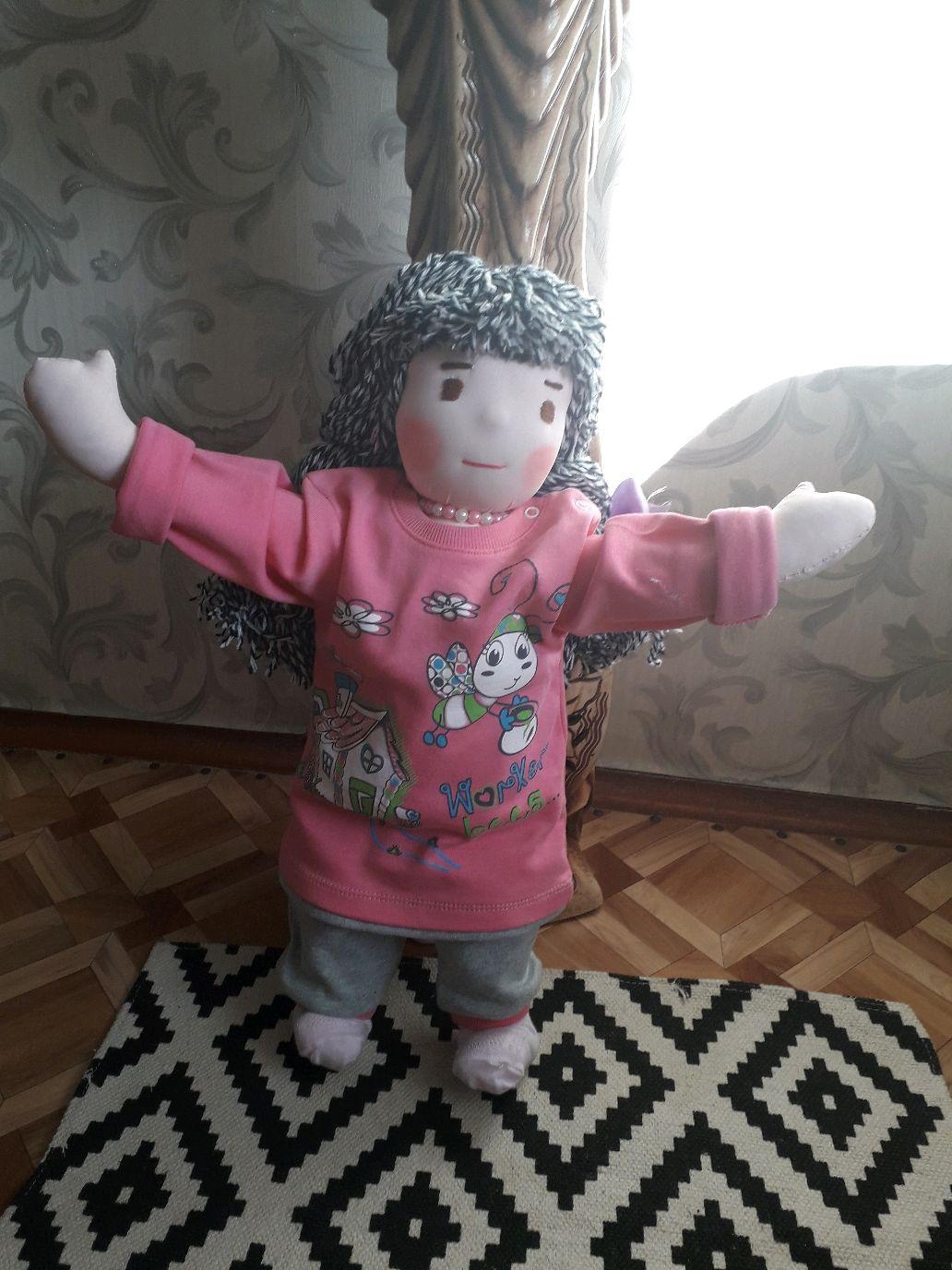 Вальдорфская кукла Лара (63см), Вальдорфская игрушка, Киржач, Фото №1