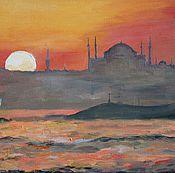 Картины и панно ручной работы. Ярмарка Мастеров - ручная работа Стамбул закат. Handmade.
