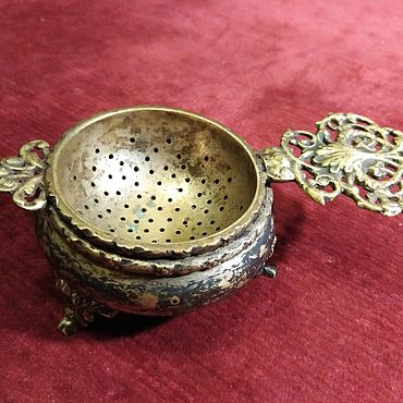 Винтаж ручной работы. Ярмарка Мастеров - ручная работа Бронзовый сет для чаепития. Handmade.