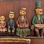 """Картины и панно ручной работы. Ярмарка Мастеров - ручная работа """"Вокзальные истории"""" папье-маше, дерево. Handmade."""
