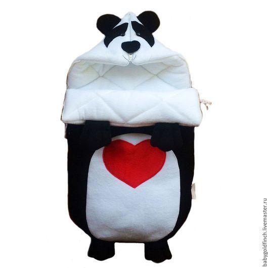 Для новорожденных, ручной работы. Ярмарка Мастеров - ручная работа. Купить Конверт для новорожденного Панда. Handmade. Панда, пандочка, конверт