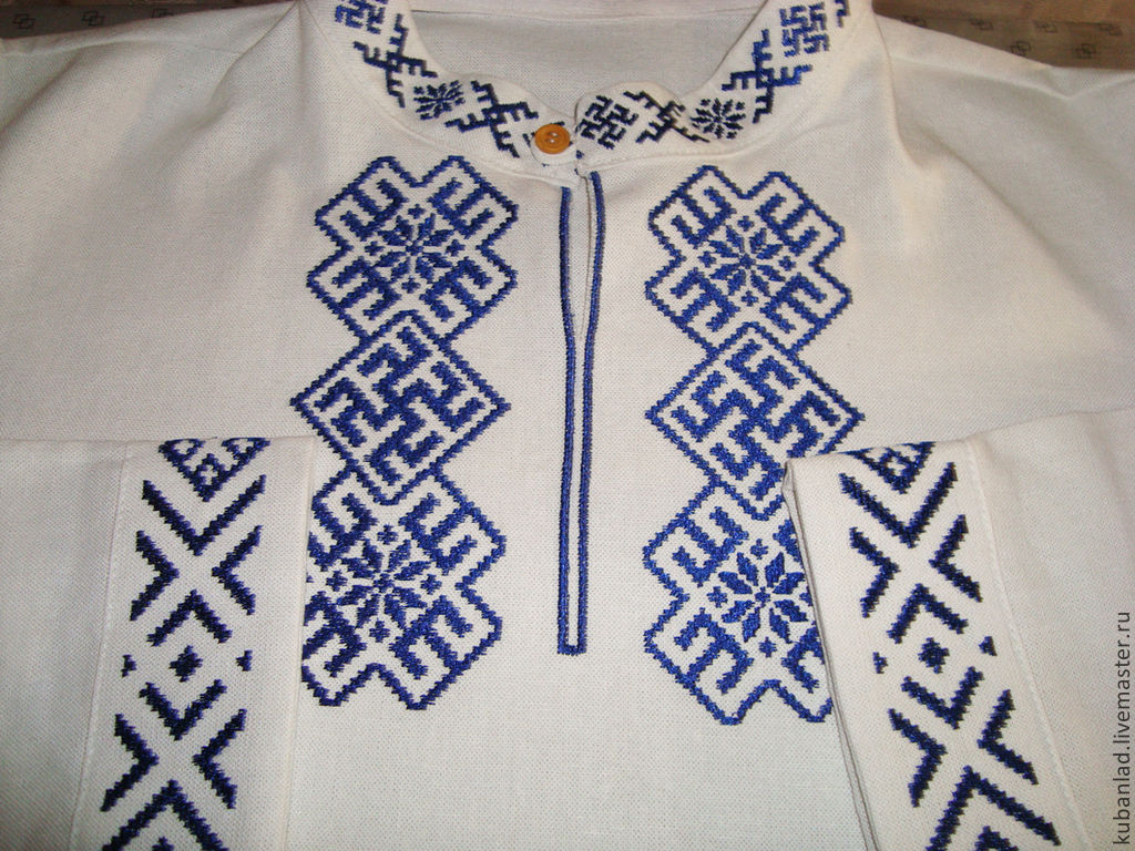 Вышивка для славянской рубахи 804