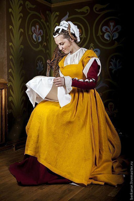 Платья ручной работы. Ярмарка Мастеров - ручная работа. Купить Средневековая чемиза, киртл и верхнее платье. Германия XVI век.. Handmade.