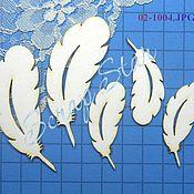 Материалы для творчества handmade. Livemaster - original item chipboard feathers 02-1004. Handmade.