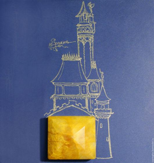 Для украшений ручной работы. Ярмарка Мастеров - ручная работа. Купить Крупный  желтый натуральный берилл (Бразилия). Handmade. Желтый