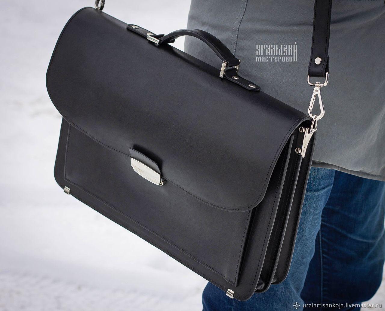 """Кожаный мужской портфель сумка через плечо """"Фердинанд"""", Мужская сумка, Верхняя Пышма,  Фото №1"""