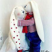 Куклы и игрушки ручной работы. Ярмарка Мастеров - ручная работа Зайцы Тим и Лиза. Handmade.