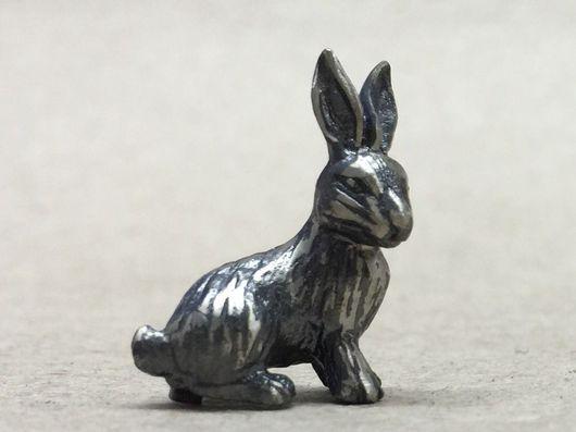 Миниатюрные модели ручной работы. Ярмарка Мастеров - ручная работа. Купить Счастливый кролик. Handmade. Литье, литье из серебра