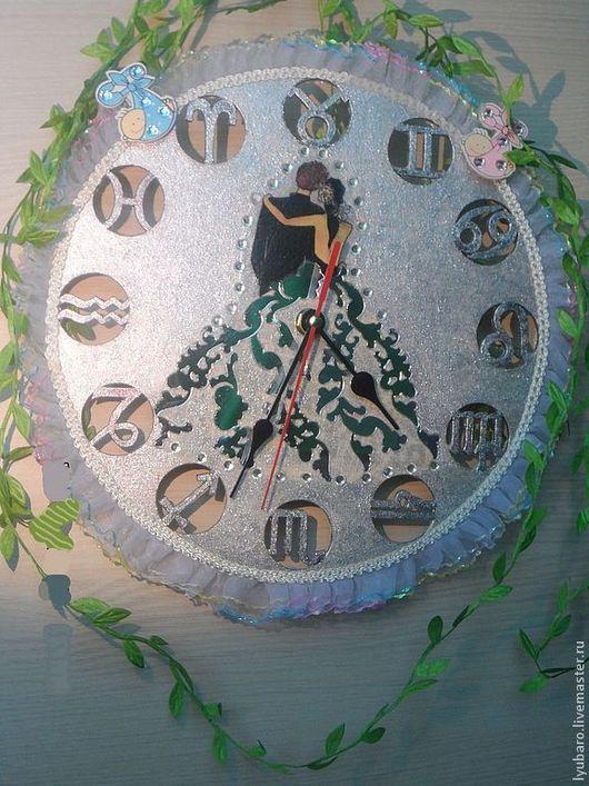 Часы для дома ручной работы. Ярмарка Мастеров - ручная работа. Купить Свадебные настенные часы «В ожидании чуда». Handmade.