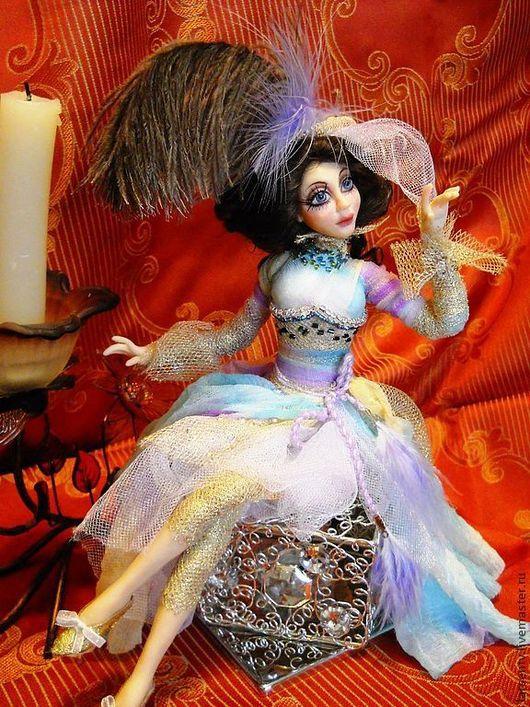 Коллекционные куклы ручной работы. Ярмарка Мастеров - ручная работа. Купить Авторская кукла Мадмуазель Лили. Handmade. Бирюзовый