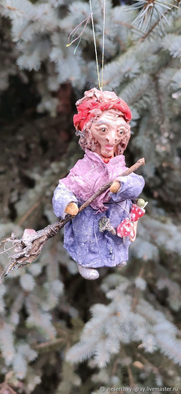 Бабуся-ягуся, ватная игрушка, Народная кукла, Москва,  Фото №1