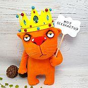 Куклы и игрушки handmade. Livemaster - original item The Cat of Omnipotence. Red cat toy by Vasya Lozhkin. Handmade.