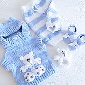 Работы для детей, handmade. Livemaster - original item Teddy suit
