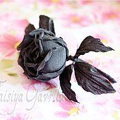 """Украшения ручной работы. Ярмарка Мастеров - ручная работа Бутоньерка """"Черная роза"""". Handmade."""