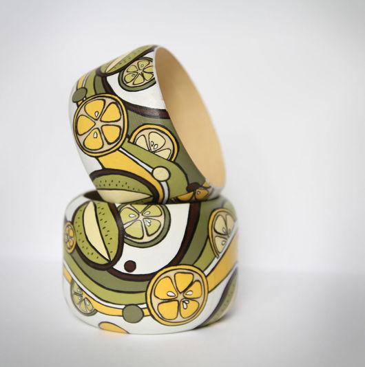 """Браслеты ручной работы. Ярмарка Мастеров - ручная работа. Купить Браслет """"Фрукты"""". Handmade. Браслет, лимон, подарок девушке, сочно"""