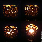 Для дома и интерьера handmade. Livemaster - original item Candle holder Carved amber. Handmade.