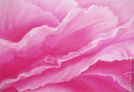 Картины цветов ручной работы. Ярмарка Мастеров - ручная работа. Купить Прикосновение глубины. Handmade. Картина цветы, лепестки, пион