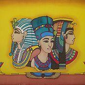 """Картины и панно ручной работы. Ярмарка Мастеров - ручная работа Панно, шелковое """"Нифертити"""" батик. Handmade."""