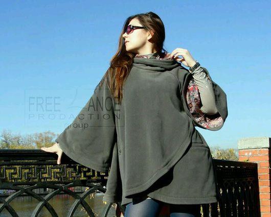 """Верхняя одежда ручной работы. Ярмарка Мастеров - ручная работа. Купить Пальто-пончо """"Фаворитка"""". Handmade. Пальто, свободная одежда"""