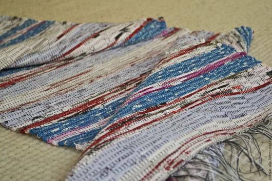 Текстиль, ковры ручной работы. Ярмарка Мастеров - ручная работа. Купить Половик ручного ткачества (№ 139). Handmade. Синий