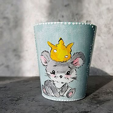 """Посуда ручной работы. Ярмарка Мастеров - ручная работа Кружка """"Мышонок с короной"""". Handmade."""