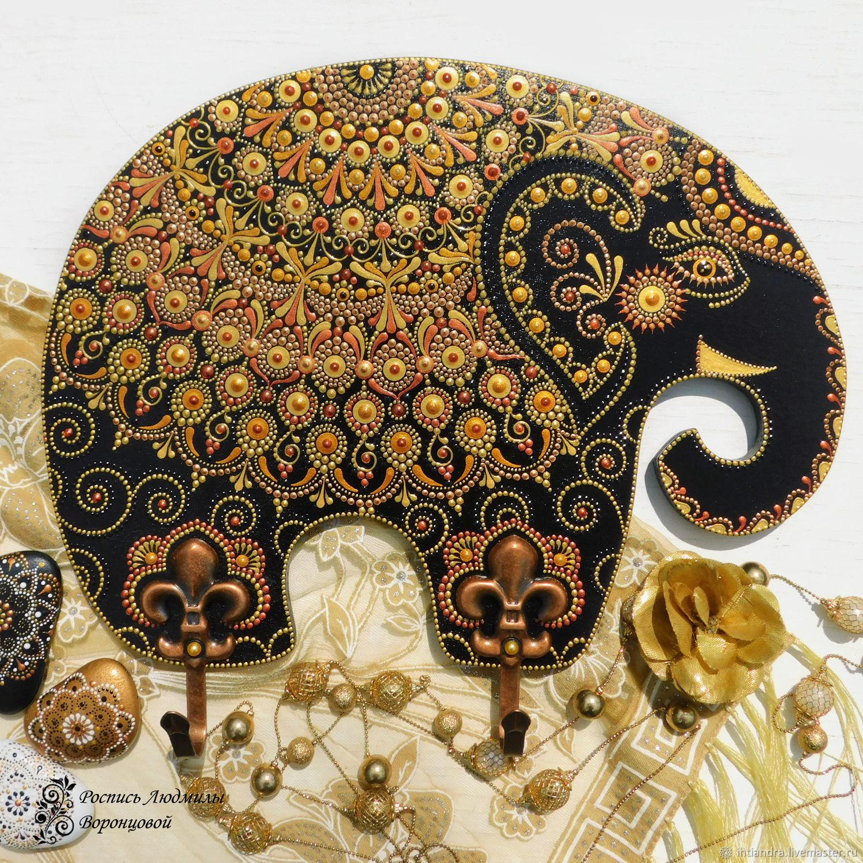 Слон Тысяча и одна ночь Панно с крючками, Ключницы настенные, Ставрополь,  Фото №1