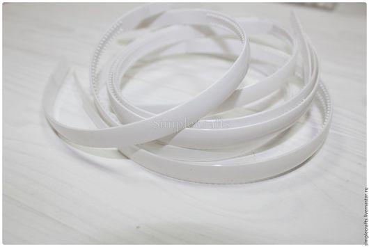 Для украшений ручной работы. Ярмарка Мастеров - ручная работа. Купить ОБОДОК 10 мм пластиковый белый. Handmade. для девочки