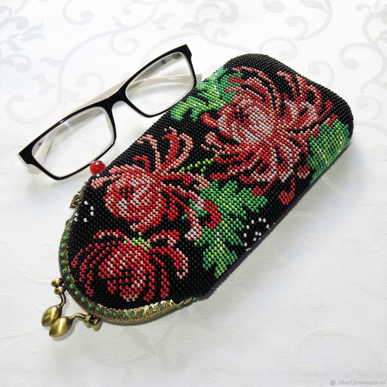 Eyeglass case beaded pencil case 'Chrysanthemum', Eyeglass case, Zheleznodorozhny,  Фото №1