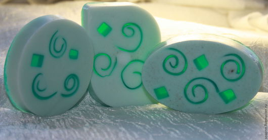 """Мыло ручной работы. Ярмарка Мастеров - ручная работа. Купить Мыло для мужчин """"Зелёный витраж"""". Handmade. Мятный, подарок мужчине"""