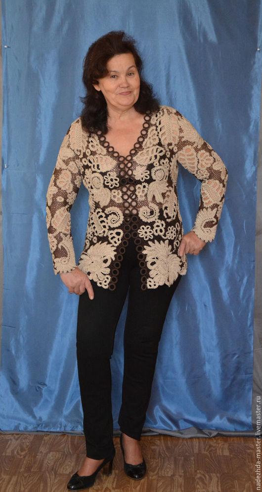 """Пиджаки, жакеты ручной работы. Ярмарка Мастеров - ручная работа. Купить Жакет женский """"Элегия"""", жакет вязаный, жакет деловой. Handmade."""