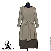 Одежда ручной работы. Ярмарка Мастеров - ручная работа Платье деловое с поясом, платье офисное. Handmade.
