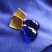 """Украшения ручной работы. Ярмарка Мастеров - ручная работа Серьги """"Благородный синий"""". Handmade."""