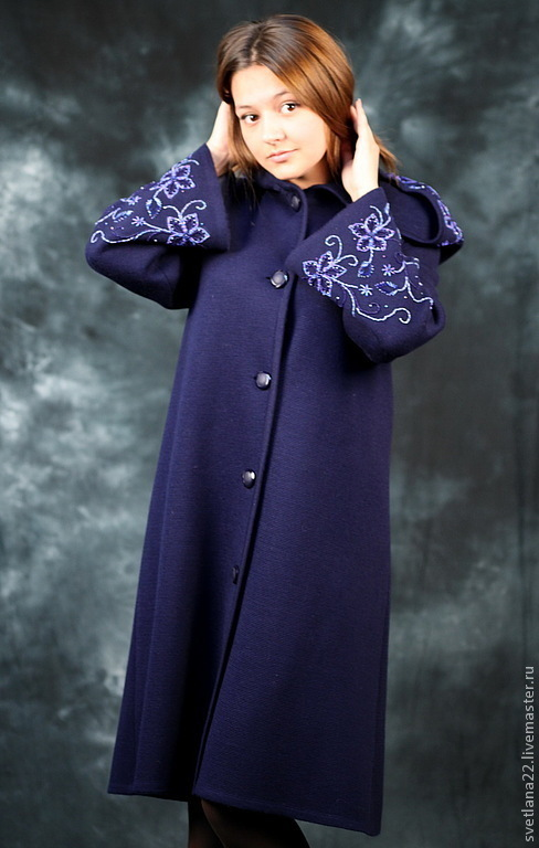 "Outer Clothing handmade. Livemaster - handmade. Buy Knitted coat ""Royal Cape"".Knitted coat, copyright embroidery"