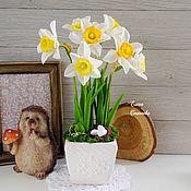 Цветы ручной работы. Ярмарка Мастеров - ручная работа Нарциссы (Холодный фарфор). Handmade.