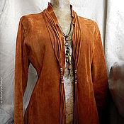 """Одежда ручной работы. Ярмарка Мастеров - ручная работа Жакет велюровый с вышивкой по краю - """"Сегю"""". Handmade."""