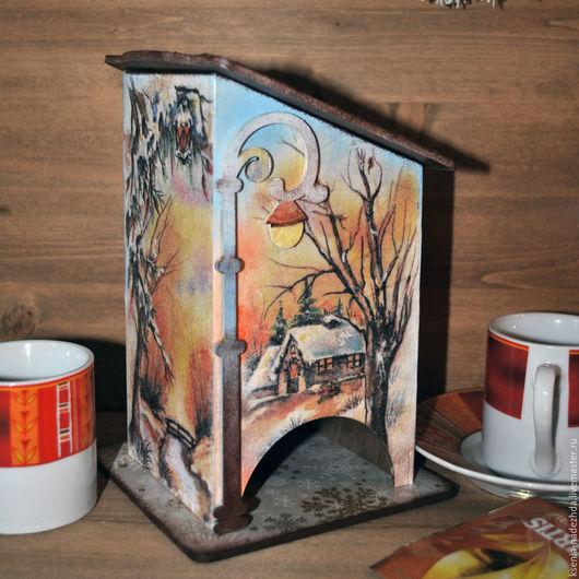 """Кухня ручной работы. Ярмарка Мастеров - ручная работа. Купить Чайный домик """"Зимний пейзаж"""". Handmade. Чайный домик"""