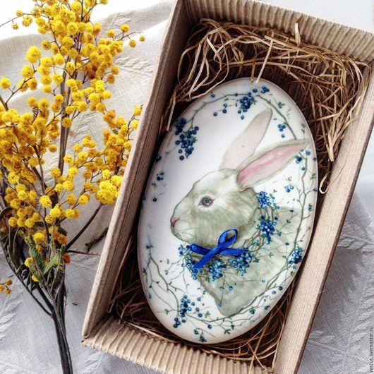 Кулинарные сувениры ручной работы. Ярмарка Мастеров - ручная работа. Купить Пряник Пасхальный кролик. Handmade. Тёмно-синий, подарок