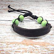 Украшения handmade. Livemaster - original item Leather bracelet with engraving Fall asleep with a dream.... Handmade.