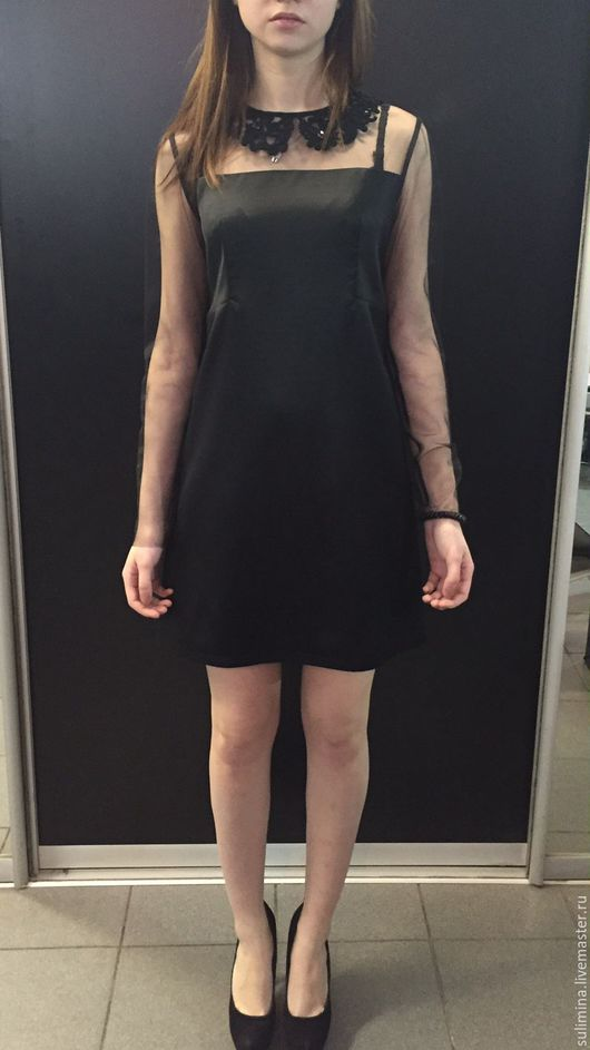 Платья ручной работы. Ярмарка Мастеров - ручная работа. Купить Платье черное ВИНТАЖ. Handmade. Черный, купить подарок девушке