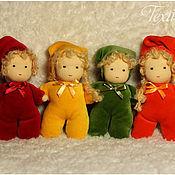 Куклы и игрушки ручной работы. Ярмарка Мастеров - ручная работа Вальдорфские гномики с просом и лавандой. Handmade.