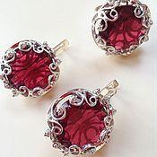 Украшения handmade. Livemaster - original item Rowan in the snow. Silver earrings and ring with tourmalines, zircons. Handmade.