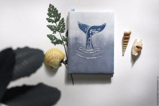 Блокноты ручной работы. Ярмарка Мастеров - ручная работа. Купить Блокнот для записей и графики No.2. Handmade. Голубой, блокнот