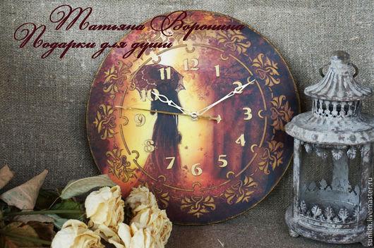 """Часы для дома ручной работы. Ярмарка Мастеров - ручная работа. Купить Грустные часики""""..А время уходит..."""". Handmade."""