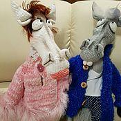 Куклы и пупсы ручной работы. Ярмарка Мастеров - ручная работа Конь в пальто и Лошать в манто. Handmade.