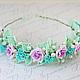 Диадема цветочная корона для девочки на выпускной в детском саду. Цена 2600