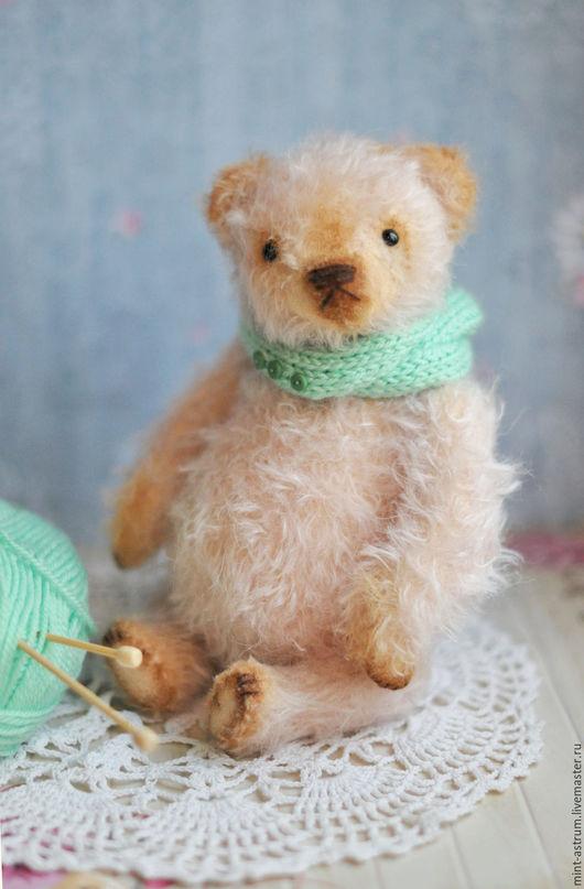 Мишки Тедди ручной работы. Ярмарка Мастеров - ручная работа. Купить Пинки Грин. Handmade. Бледно-розовый, авторская игрушка