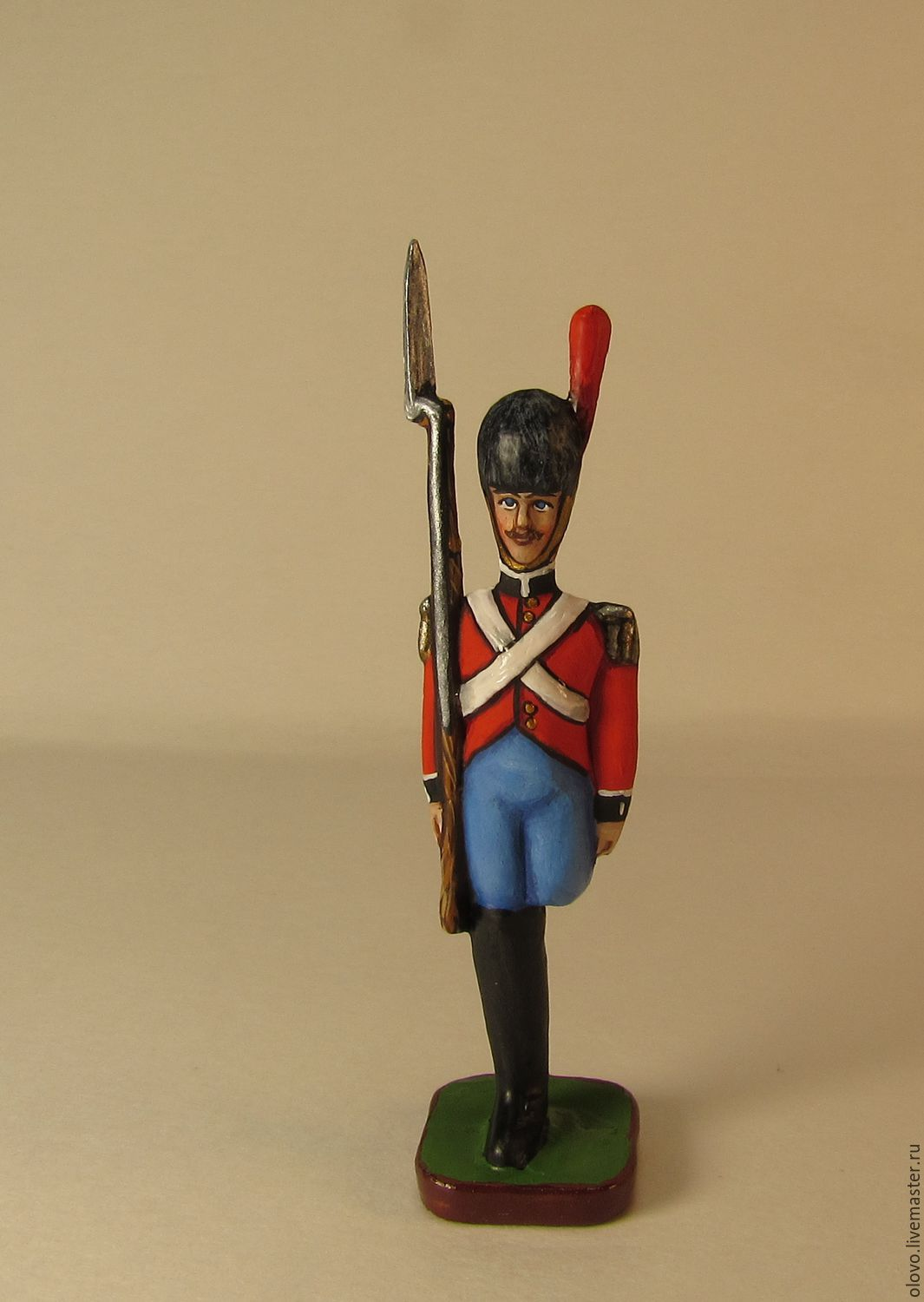 The Steadfast Tin Soldier. Pewter miniature. 45 mm, Model, St. Petersburg,  Фото №1