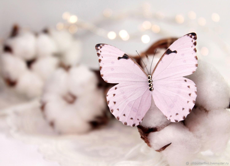 Подарок на Пасху Брошь Бабочка Светло-розовая Морфо, Пасхальные сувениры, Химки,  Фото №1